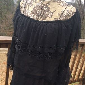 Vintage Halloween GOTH Boho WITCH Papillon Gown